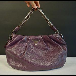 Prada Cervo Lux Chain Shoulder Bag
